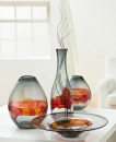 Gilde Glas flache runde Schale Magma 39971