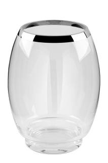 Fink EZ-YORK Glasvase m.Platinum,klar  Höhe 29cm, Ø 22cm 112052