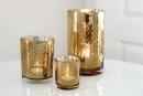 Fink Linio Teelichthalter,Glas,Rose Gold,Wellen 8X7,3  cm  115106