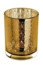 Fink Linio Teelichthalter,Glas,Rose Gold,Wellen 12,5X10...