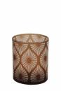 Fink Calana  Windlicht  Glas  braun  Höhe 12 cm...