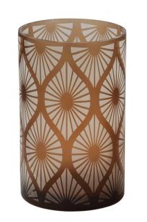 Fink Calana  Windlicht  Glas  braun  Höhe 20 cm  Durchmesser 12 cm 115168