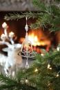 Fink Ornaments Hänger Glocke vernickelt 25X10cm 142912