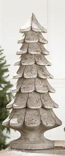 GILDE Weihnachtsbaum antik grau 40cm