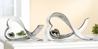 Gilde Keramik Skulptur Herz 33944