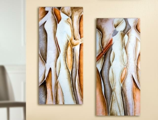 Gilde Bild Gemälde Gallery Silhouetten-Paar 38632