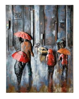 Gilde Metall Bild Rainy Traffic 38641 120 x 80 cm