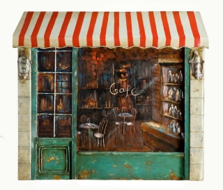 Gilde Metall Bild Cafe 38643 79 x 68 cm