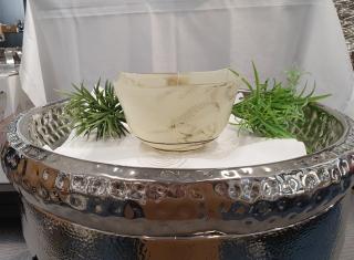 Gilde Glas Schale Marble Glas Art 39009