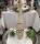 Gilde Glas Flaschenvase Marble 39013