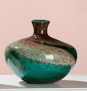 """Gilde GlasArt Vase bauchig """"Curl"""" braun,..."""