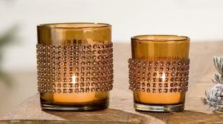 Gilde Glas Windlicht Brillante Glas 40527 Höhe 8 cm Breite 6,5 cm