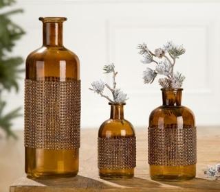 Gilde Glas Flaschenvase Brillante 40528 Höhe 13,5 cm Breite 6 cm