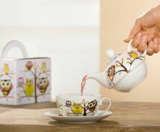Gilde Porzell Tea For One Eulenzauber 49267
