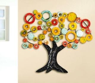 Gilde Metall Wandrelief Lebensbaum 69320 90 x 84 cm