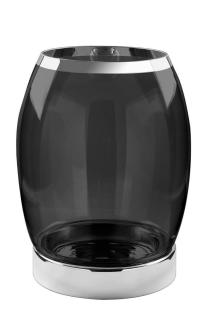 Fink York Windlicht Platinum M.Silberf.Smoke,Vers Höhe 39, Durchmesser 31 139005