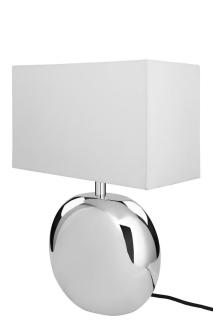 Fink Luna Tischleuchte,Nickel,Weiß Höhe 40  cm ,B.30  cm  165242