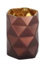 Fink ZAO Teelichthhalter braun gold H=20cm D=13 5cm 115039