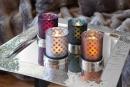 Fink RUBIO Vase,Windlicht,Glas,grau 17,5x16cm 115044