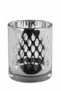 Fink Tani TeelichtHöhe Silber Punkte Höhe 12,5  cm , Durchmesser 10  cm  115185