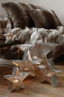 Fink Reva  Windlicht  vernickelt  silberfarben  Breite 57 cm  Höhe 19 cm   140155