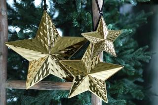 Fink STELLARE Stern Hänger gold D=27cm 141019