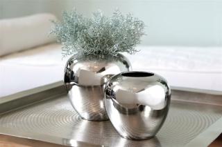 Fink LOSONE Vase,vernickelt  Höhe 20cm Ø 20cm 157010