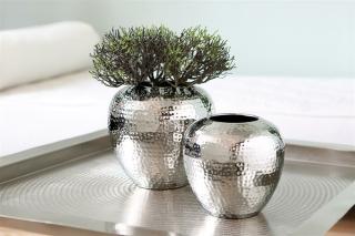 Fink LOSONE Vase,vernickelt,gehämm. H25cmD25cm 157014