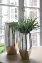 Fink Africa  Vase  Eisen  vernickelt  silberfarben  Höhe 28 cm  Durchmesser 14 cm 157016