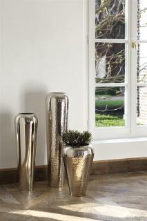 Fink TUTZI Vase,vernickelt,gehämm.  Höhe 90cm Ø 24 cm 157026