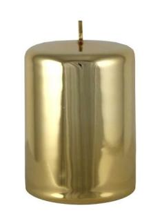 Kaheku Cylinderkerze Sicilia gold glanz 7 Ø 15h 100900338
