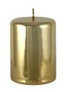 Kaheku Cylinderkerze Sicilia gold glanz 7 Ø 15h...