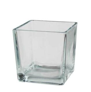 Kaheku Kübel Aqua quadratisch klar 12x12x12cm 38500044
