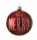 Leonardo  Christbaumkugel Weihnachtsbaumkuge Kugel 8 cm rot Spruch Natale 28457