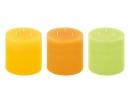Fink Garden  Rundkerze  Paraffin  gelb  grün  orange  Höhe 15 cm  Durchmesser 15 cm 123944