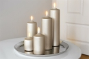 Fink Candle  metallic Stumpenkerze  Paraffin  stein...