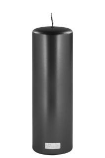 Fink CANDLE Stumpenk., metallic schwarz,get.  Höhe 25, Ø 8 123775