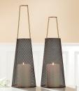Gilde Metall Windlicht Modern 69481 H=42 cm