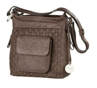"""Gilde Leder Tasche""""Mia""""Hunt0370  braun - Gesamtlänge vom Gurt 115cm  Länge 13 cm Breite 23 cm Höhe 25 cm 44470"""
