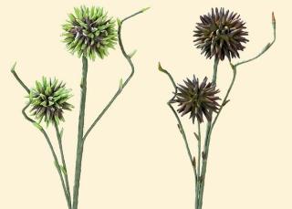 Gilde Deko Alium Lauchpflanze 2 Blüten 42633 Kunstblume