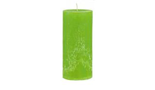 Gilde Wachs Stumpenkerze hellgrün H: 16,5 cm D: 6,5 cm 42508