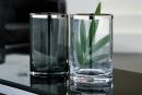 Fink EZ-PLATINUM Vase m.Platin,smoke,150027  Höhe...