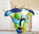 """Gilde GlasArt Design-Vase """"Visto"""" mit Gesicht,..."""