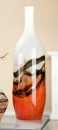 Gilde Glasart Flaschenvase Lava 39155