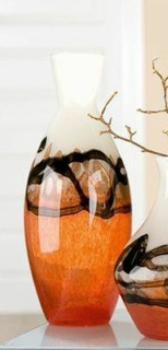 Gilde Glasart Schlanke Vase Lava 39154