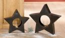 Gilde Eisen Windlicht Stern  dunkelbraun rusty, B40/H38 +...