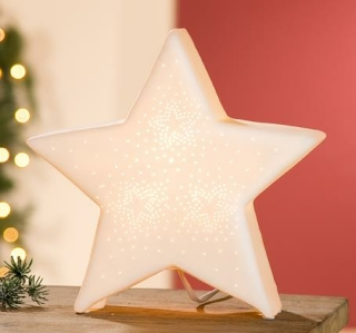 Gilde Porzell Sternlampe Stern 25653