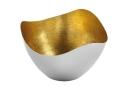 Fink Lucile  Schale  Eisen  Foliengold  vernickelt  gold  silberfarben  Höhe 11 cm  Durchmesser 19 cm 156053