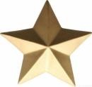 ASA Deko Deko Stern, gold D. 18,5 cm, H. 6 cm 66782029