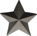 ASA XMAS Deko Stern, basalt D. 7,6 cm, H. 3 cm 66780617